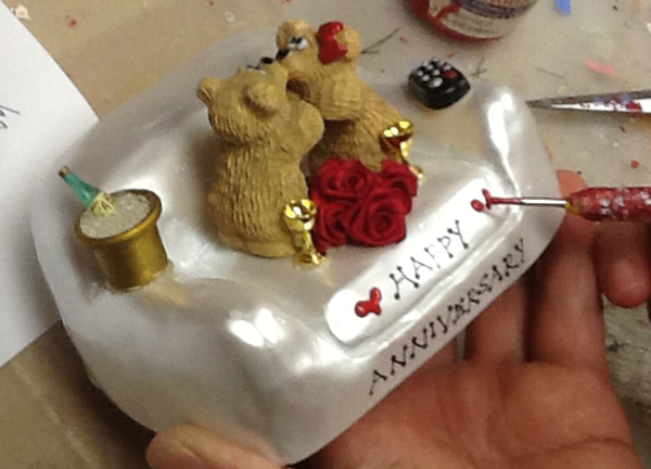 Bear Bunching - Hand Paint Red Hearts