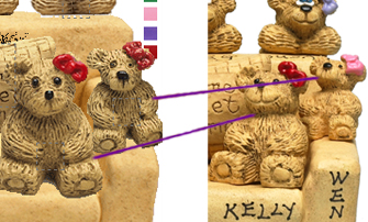 Preview vs Final Product: Bear Bunch on Sette