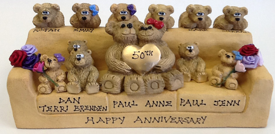 Personalized Teddy Bears on Customized Sofa