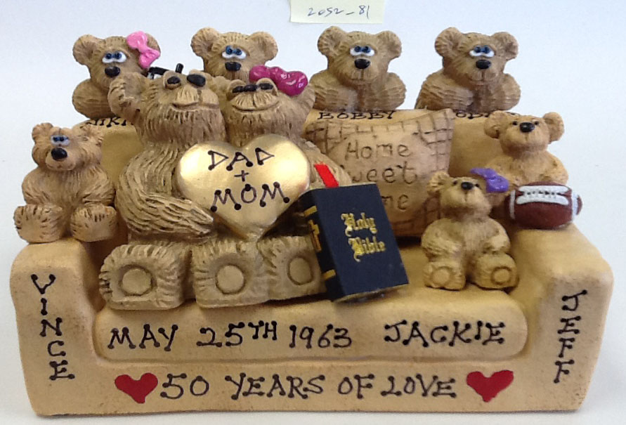 Personalized Teddy Bears on Customized Settee
