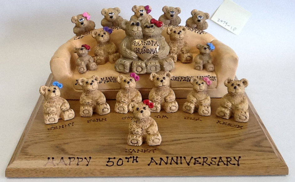 Personalized Teddy Bears on Customized Couch
