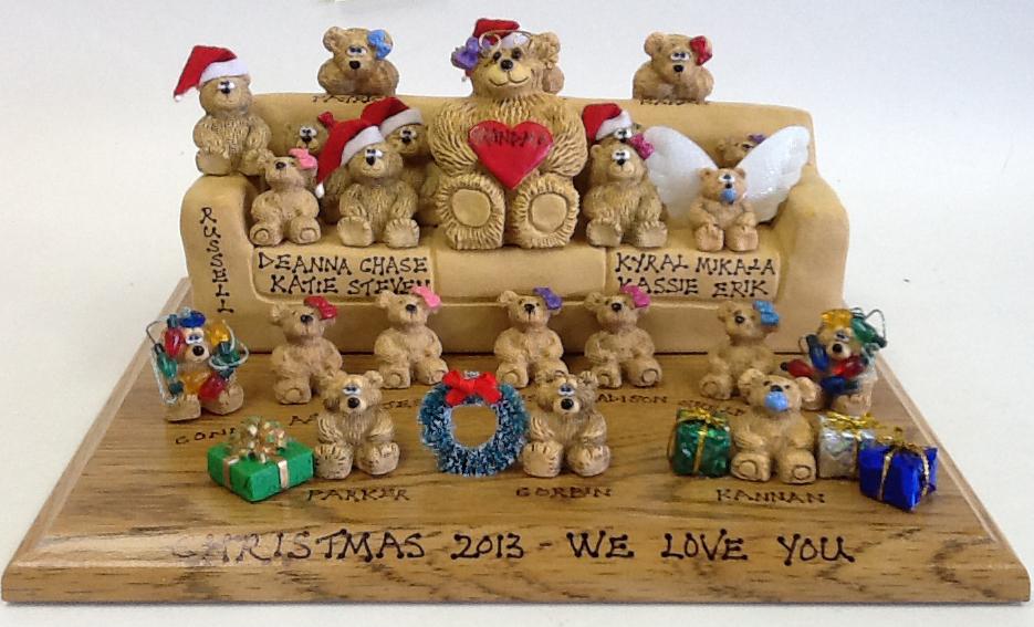 Personalized Teddy Bears on Customized Sofa