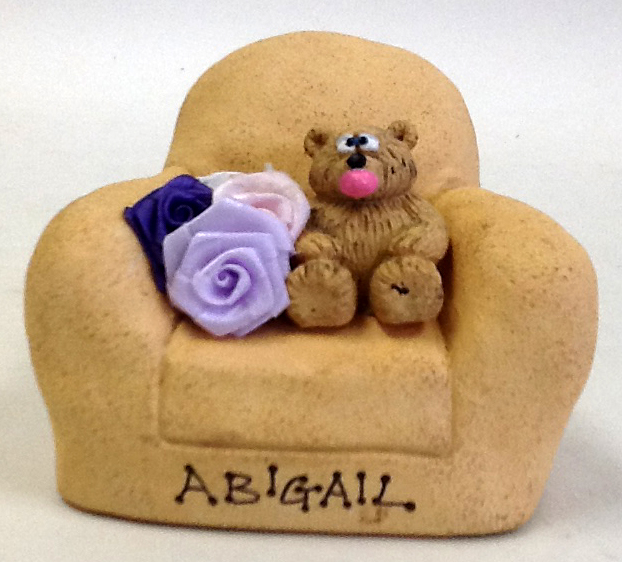 Personalized Teddy Bears on Customized Chair