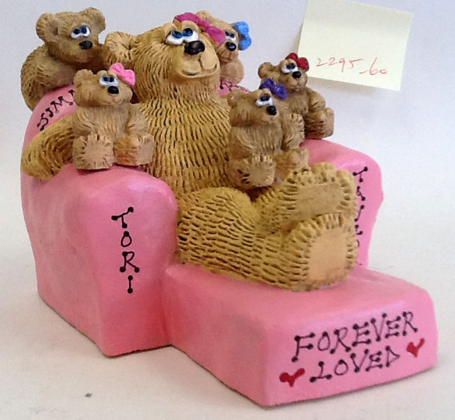 Personalized Teddy Bears on Customized Recliner